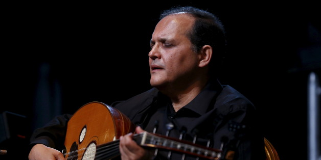 Tunisian oud player Anouar Brahem performs during the Jazzablanca World & Jazz Music Festival in Casablanca April 20, 2015.  REUTERS/Youssef Boudlal