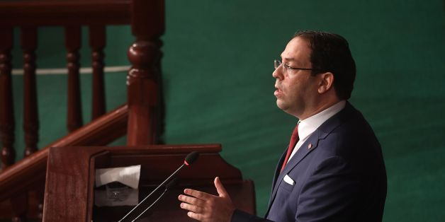 Tunisian Prime Minister Youssef Chahed speaks during a meeting to present to parliament the outline of the 2018 budget, on November 21, 2017, in Tunis. / AFP PHOTO / FETHI BELAID        (Photo credit should read FETHI BELAID/AFP/Getty Images)