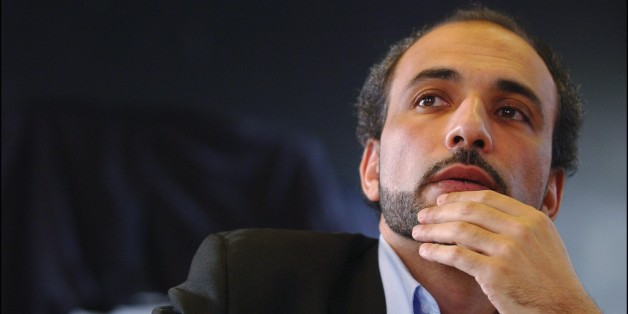 FRANCE - NOVEMBER 14:  Press Conference Of Tariq Ramadan During The 'Forum Social Europeen' (European Social Forum) In Paris On November 14, 2003 In Ivry Sur Seine, France.   (Photo by Jean-Luc LUYSSEN/Gamma-Rapho via Getty Images)