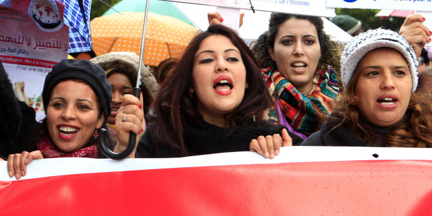 Women march to commemorate International Women's Day in Tunis March 8, 2015.   REUTERS/Anis Mili  (TUNISIA - Tags: SOCIETY)