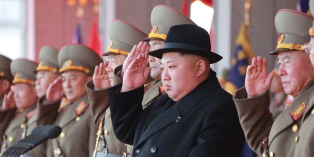 North Korean leader Kim Jong Un attends a grand military parade celebrating the 70th founding anniversary of the Korean People's Army at the Kim Il Sung Square in Pyongyang, in this photo released by North Korea's Korean Central News Agency (KCNA) February 9 2018. KCNA/via REUTERS  ATTENTION EDITORS - THIS PICTURE WAS PROVIDED BY A THIRD PARTY. REUTERS IS UNABLE TO INDEPENDENTLY VERIFY THE AUTHENTICITY, CONTENT, LOCATION OR DATE OF THIS IMAGE. NO THIRD PARTY SALES. NOT FOR USE BY REUTERS THIRD P