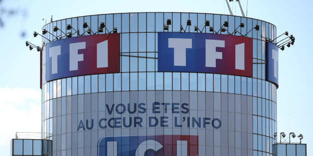 Logos of French television networks TF1 and LCI are seen at the Boulogne-Billancourt headquarters, near Paris, France, April 18, 2016. REUTERS/Charles Platiau