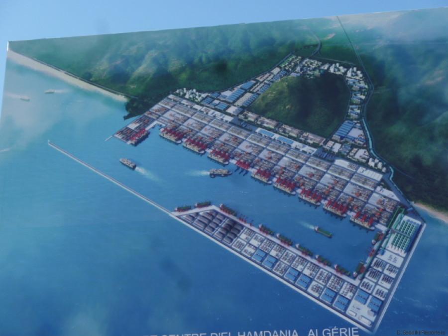 maquette du port de el hamdania
