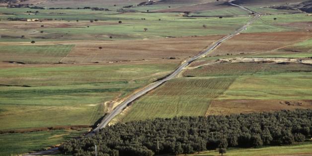 ALGERIA - MARCH 18: Agricultural landscape near Frenda, Algeria. (Photo by DeAgostini/Getty Images)