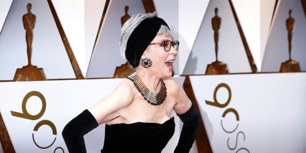 "90th Academy Awards - Oscars Arrivals – Hollywood, California, U.S., 04/03/2018 – Rita Moreno wears the same dress she wore when she won the best supporting actress Oscar in 1962 for ""West Side Story"". REUTERS/Mario Anzuoni"