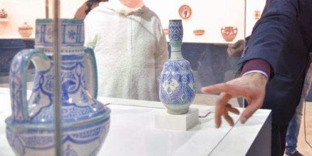 Des poteries du Musée national de la céramique de Safi, Maroc, mars 2018.
