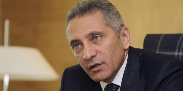 Morocco's Industry Minister Moulay Hafid Elalamy poses during an interview with Reuters in Rabat, November 2, 2015. Morocco expects auto industry exports to reach an annual 100 billion dirhams ($10.2 billion) by 2020 as a result of PSA Peugeot Citroen starting production at its new 557 million euro ($630 million) factory. Picture taken on November 2, 2015.  REUTERS/Stringer