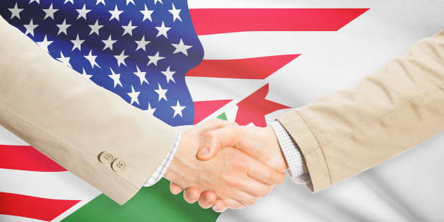 Businessmen shaking hands - United States and Algeria