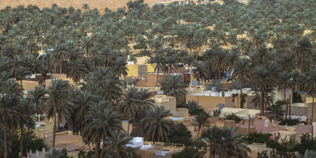 ALGERIA - MARCH 18: Palm grove, M'zab valley, Ghardaia province, Algeria. (Photo by DeAgostini/Getty Images)