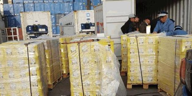 À Casablanca, 240 kilos de résine de cannabis cachés dans des briques de jus d'orange