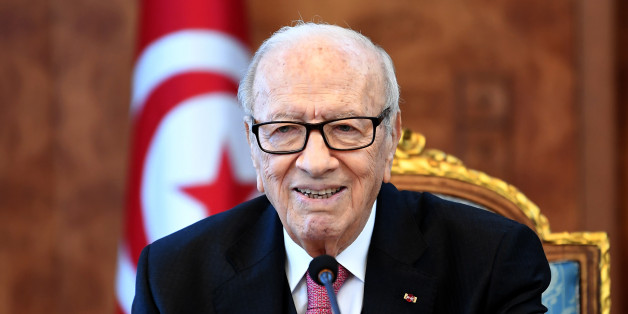 Tunisian President Beji Caid Essebsi attends a meeting with political parties, unions and employers on January 13, 2018 in Tunis, following unrest triggered by austerity measures.The North African country has been shaken by a wave of protests over poverty and unemployment during which hundreds have been arrested before the unrest tapered off. / AFP PHOTO / FETHI BELAID        (Photo credit should read FETHI BELAID/AFP/Getty Images)