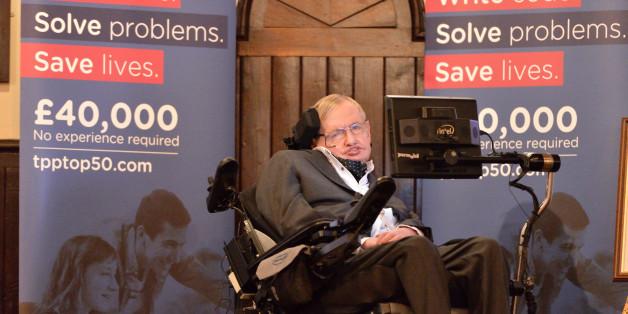 CAMBRIDGE, CAMBRIDGESHIRE - NOVEMBER 21:  Stephen Hawking at The Cambridge Union on November 21, 2017 in Cambridge, Cambridgeshire.  (Photo by Alisa Molotova/Getty Images)