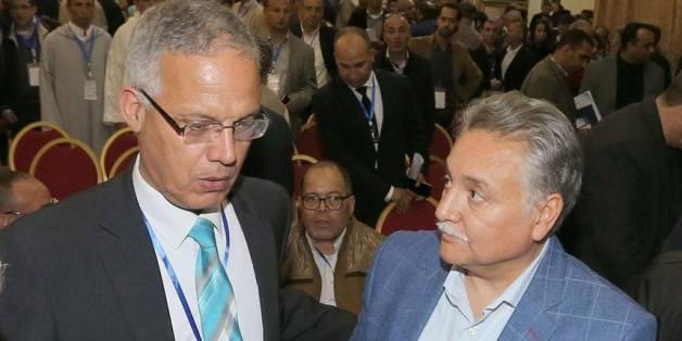 """De gauche à droite, Hassan Benakabli, coordinateur national du courant """"Kadimoune"""", et Nabil Benabdellah, secrétaire général du PPS."""