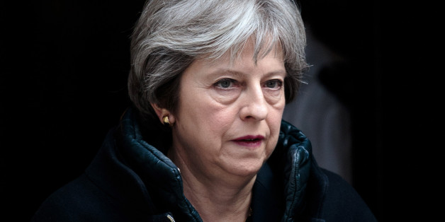 LONDON, ENGLAND - MARCH 14: British Prime Minister Theresa May leaves Number 10 Downing Street on March 14, 2018 in London, England. Mrs May is expected to announce measures against Moscow after it failed to meet a deadline to explain how a Russian nerve agent was used in Salisbury against former spy Sergei Skripal and his daughter Yulia. (Photo by Jack Taylor/Getty Images)