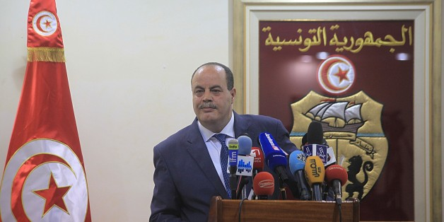 TUNIS, TUNISIA - AUGUST 5:  Tunisian Interior Minister Mohamed Najem Gharsalli holds a press conference in Tunis, Tunisia on August 5, 2015. (Photo by Yassine Gaidi/Anadolu Agency/Getty Images)