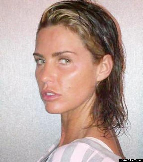 Katie Price Goes Extensions And Make Up Free In Twitter Pic