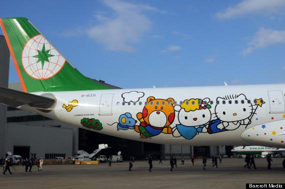 Hello Kitty, Taiwan's Eva Air Offers Sanrio Kitten-Themed Flights