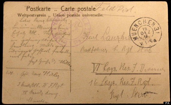 Postcard From Adolf Hitler Discovered At British Library