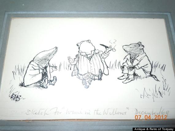 antique sketch toad retro of torquay