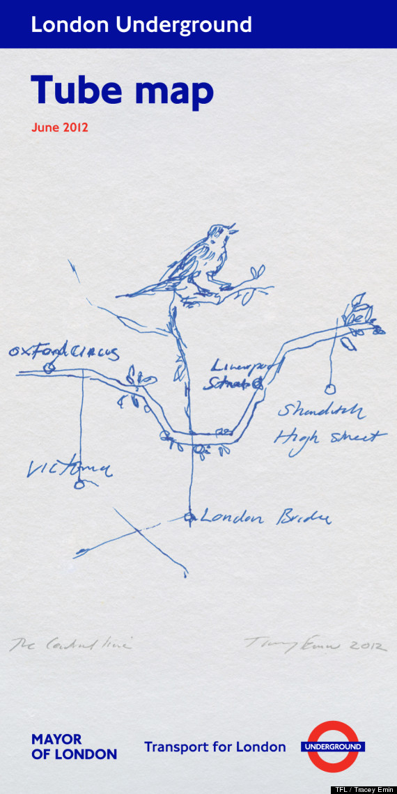 tracey emin tube map cover june 2012