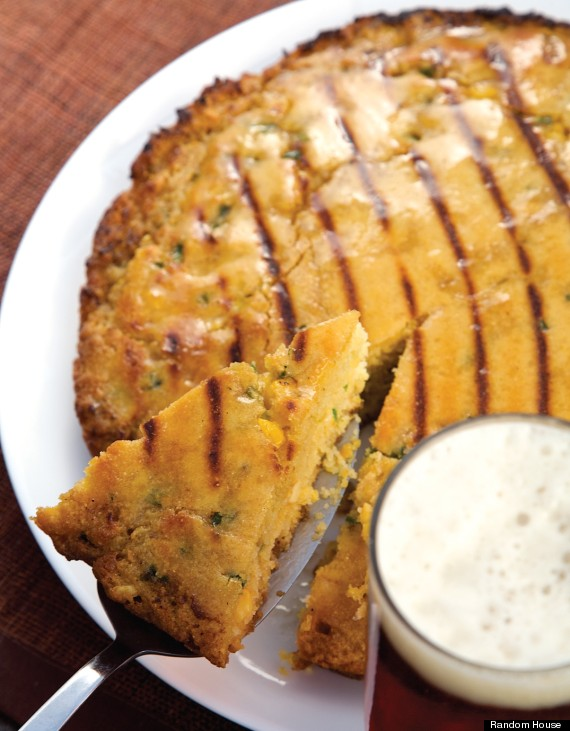 grilled jalapeno beer cornbread