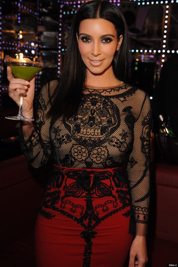 kim kardashian midori cocktail