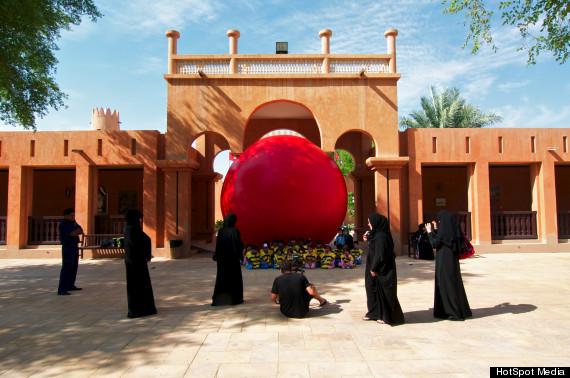 kurt perschke red ball art