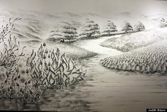 finger painting landscape