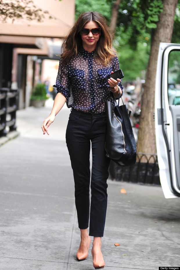 Miranda Kerr Shows Off Sophisticated Street Style In Nyc