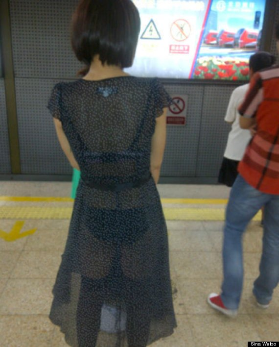 shanghai sexy subway woman