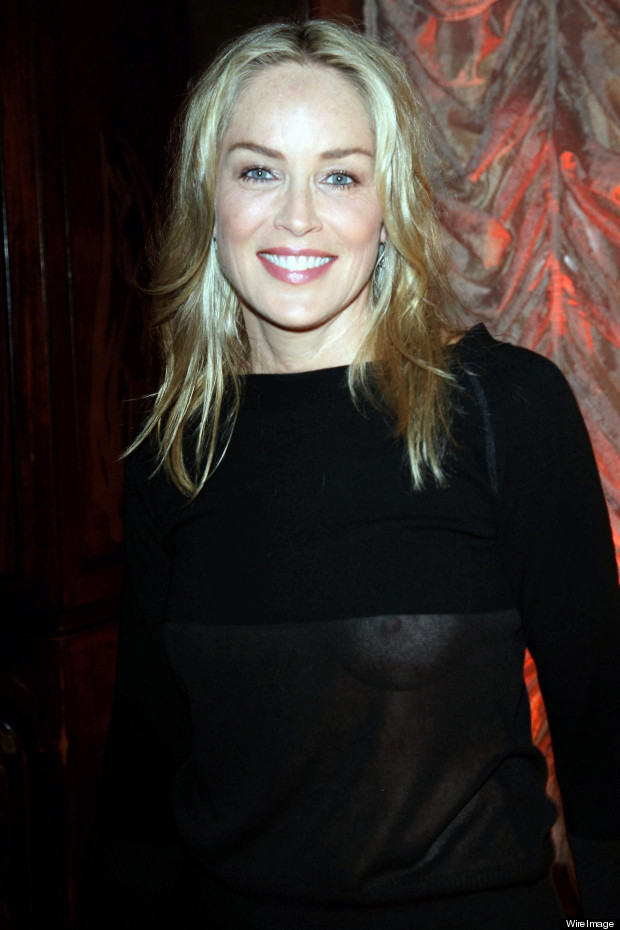 sharon stone see through top