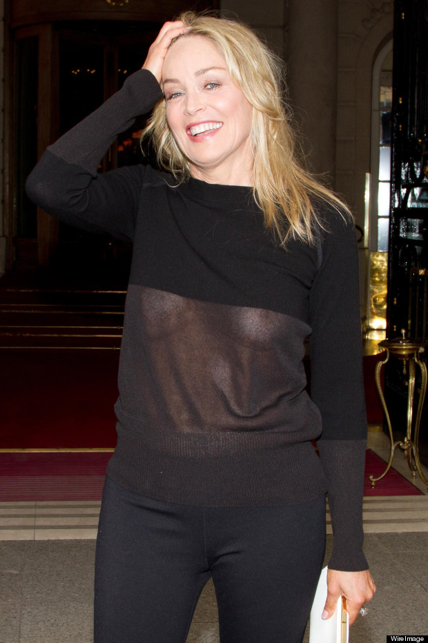 sharon stone sheer jumper