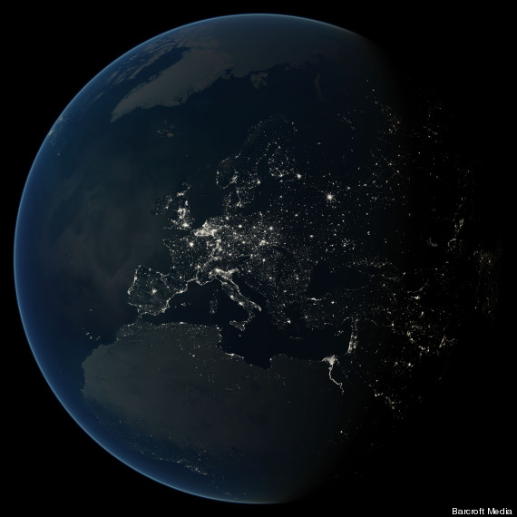 light pollution space