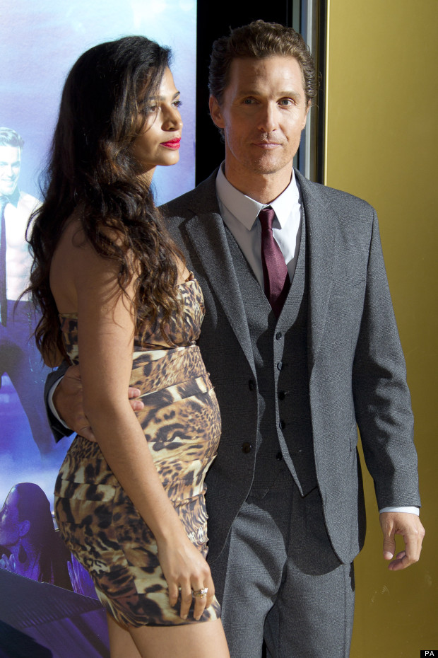 Camila Alves Shows Off Baby Bump In Tiny Leopard Dress At Magic Mike