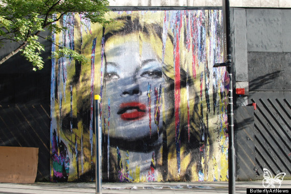 kate moss mr brainwash mural london