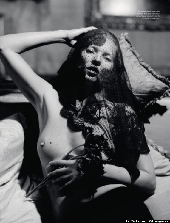 Topless Kate moss