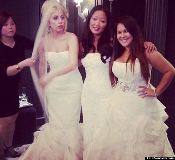lady gaga wedding dress