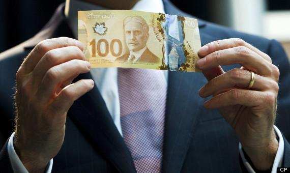 Canadian Money 100 Bill