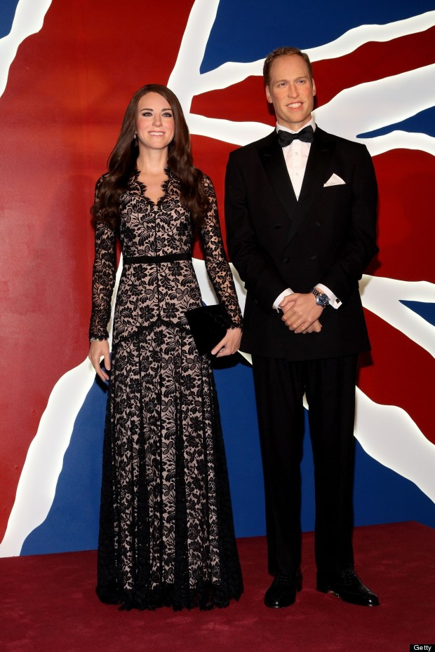 kate and will waxwork