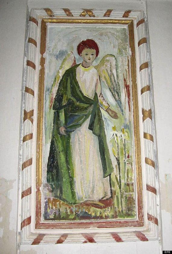 ecce homo huesca angel mal restaurado