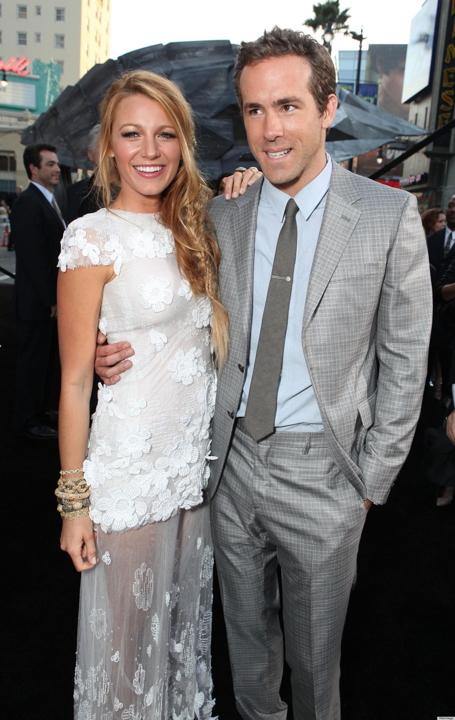 Ryan Reynolds Blake Lively Wedding Dress