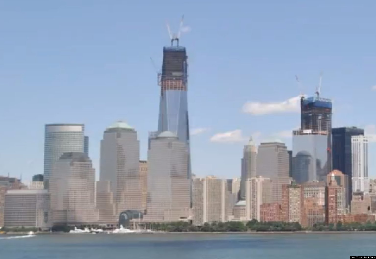 One world trade center time lapse video earthcam shows freedom one world trade center time lapse video earthcam shows freedom tower progress huffpost gumiabroncs Gallery