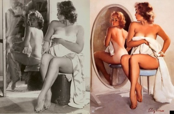 Gil Elvgrens 1950s Pin Up Girls Were Photoshopped Too