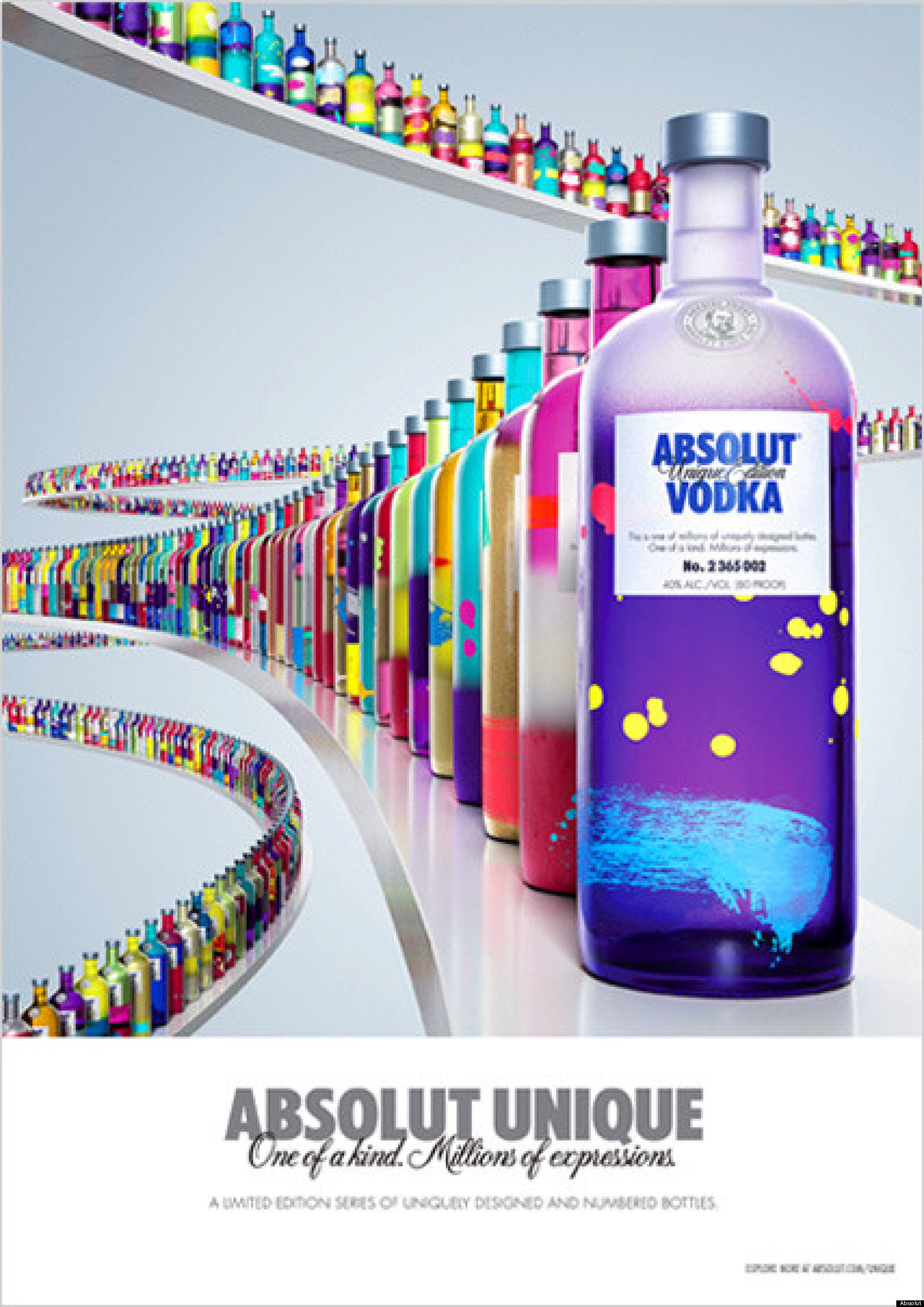 Absolut Vodka's 'Unique': Company Releases 4 Million One-Of