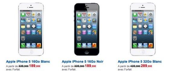 iPhone 5 - Bouygues, Free, Orange, SFR : quel opérateur le propose au meilleur prix