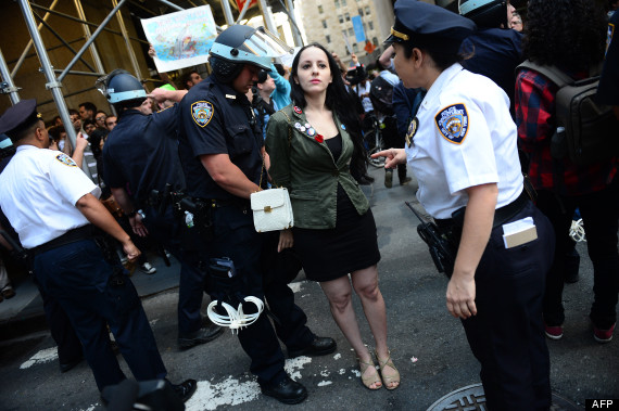 occupy wall street anniversaire arrestations