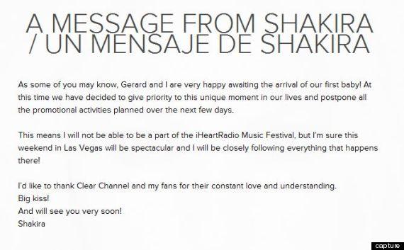 shakira message_blog