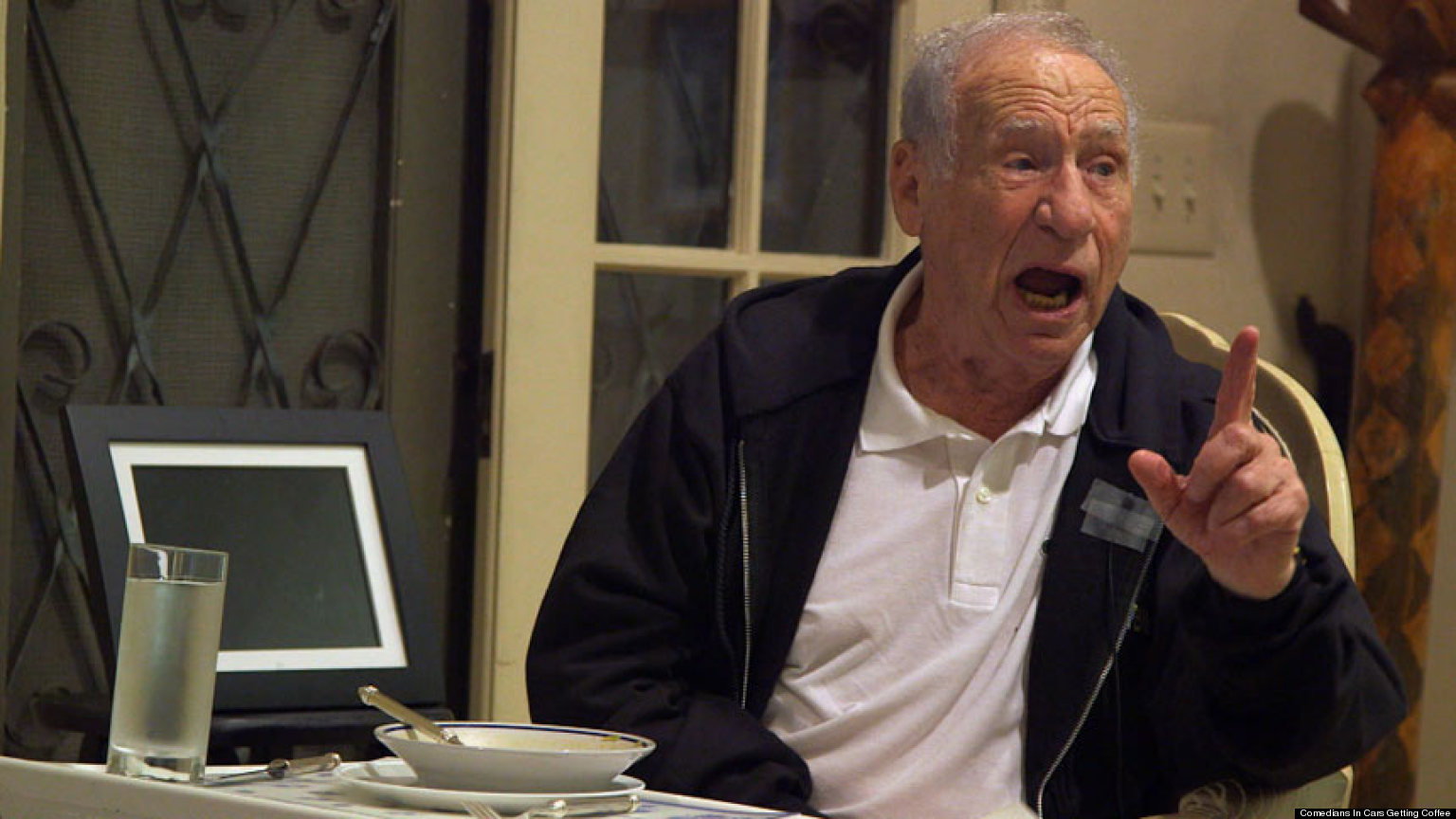 Carl Reiner And Mel Brooks Comedians In Cars Getting Coffee