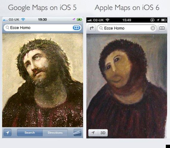 fallos mapas de apple