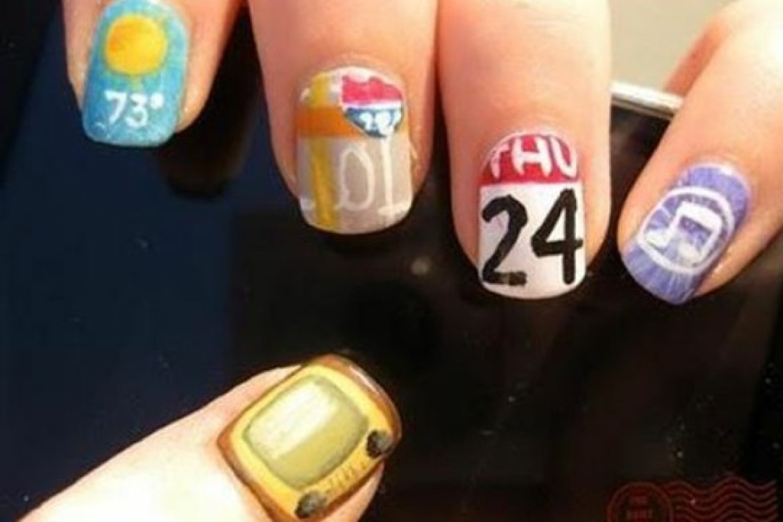DIY Nail Art: iPhone App-Inspired Manicure (PHOTOS) | HuffPost